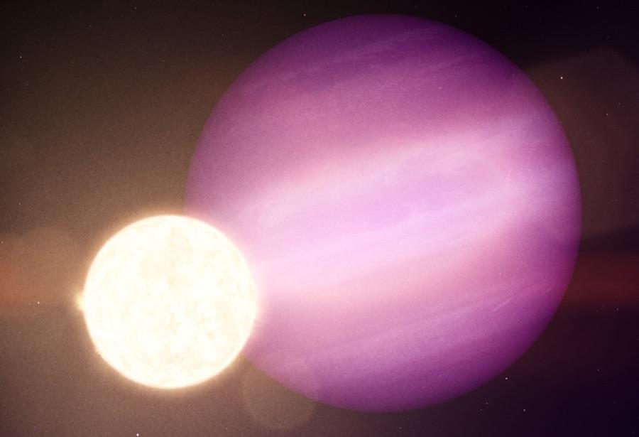 Ilustrasi WD 1856b mengitari bintang katai Putih. Kredit: NASA Goddard Space Flight Center