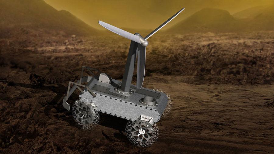 Konsep robot penjelajah Venus. Kredit: NASA