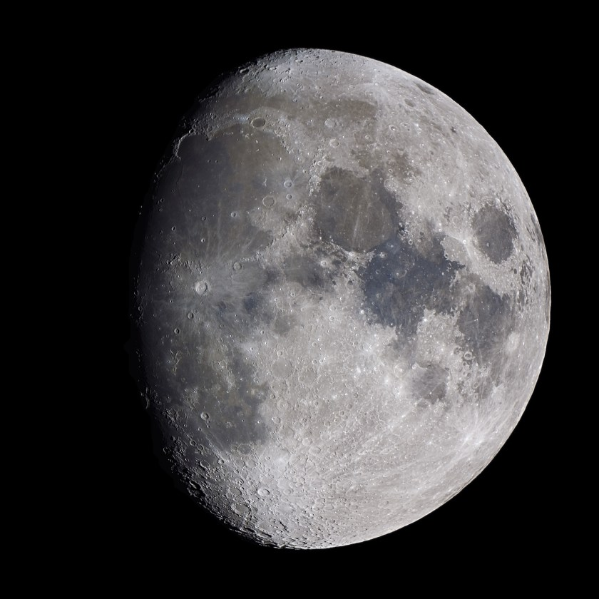 a Waxing Gibbous Moon is seen in the sky