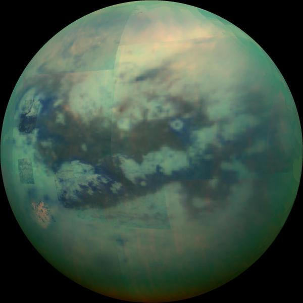 Cassini peers through the haze of Saturn's moon Titan ...