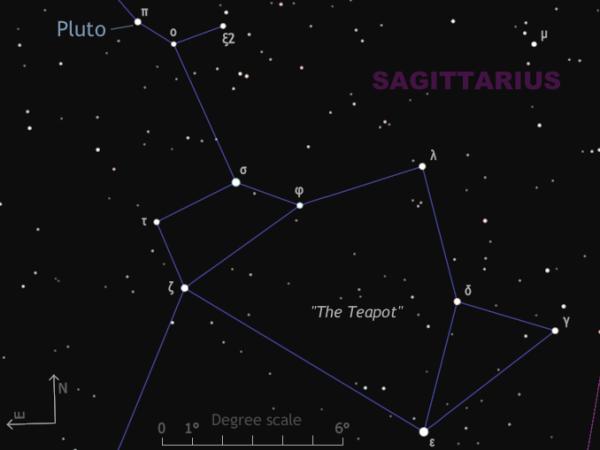 Find Pluto close to nakedeye star Sagittarii Albaldah