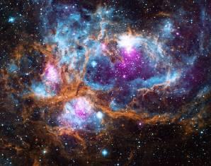 NGC 6357. Image credit: X-ray: NASA/CXC/PSU/L. Townsley et al; Optical: UKIRT; Infrared: NASA/JPL-Caltech