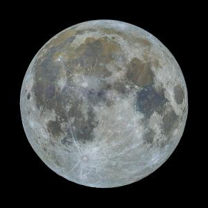 Full moon in colors