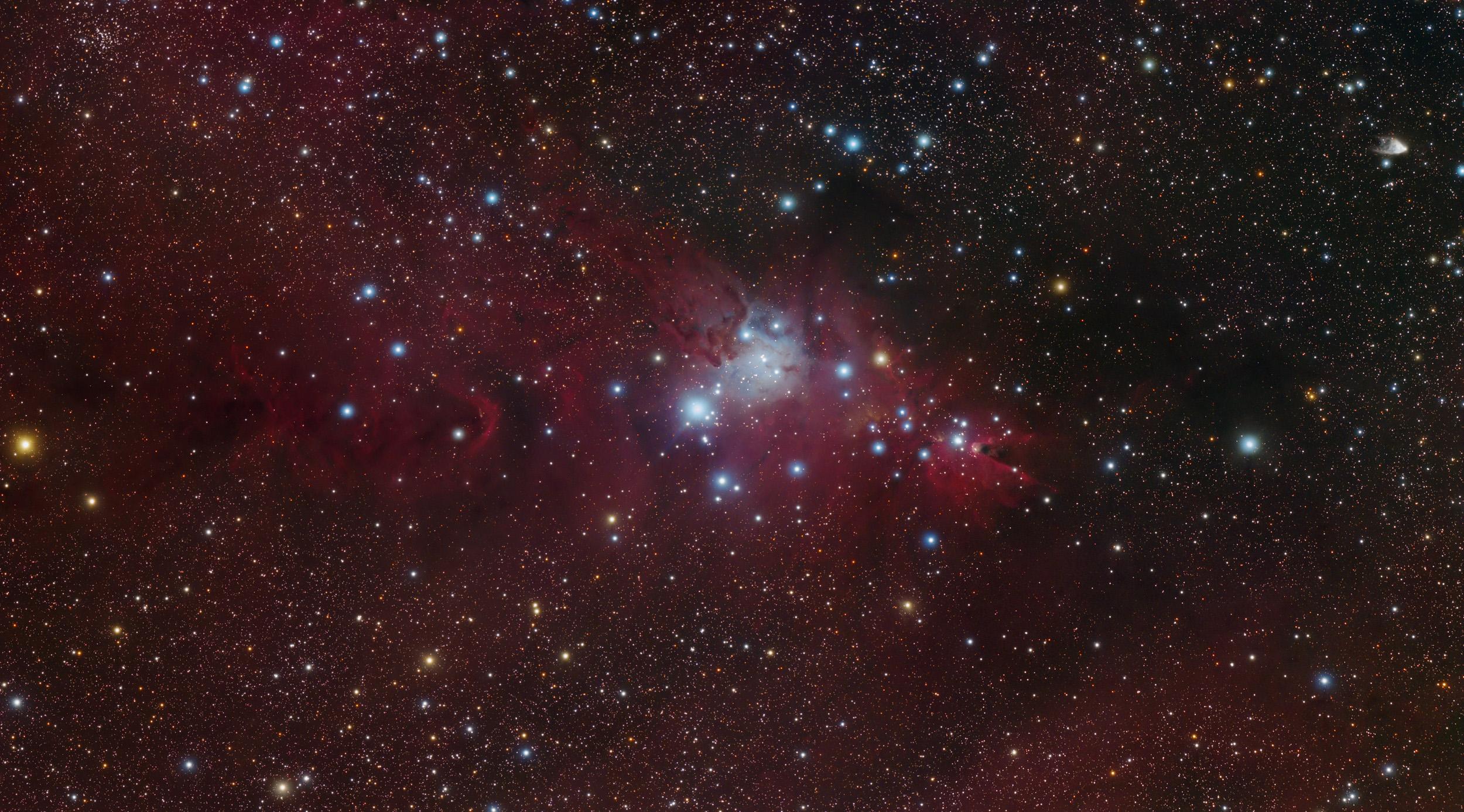 The Cone Nebula Region In Monoceros