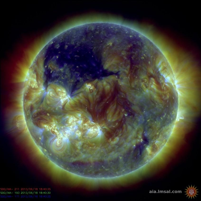 Crédito: Solar Dynamics Observatory, NASA