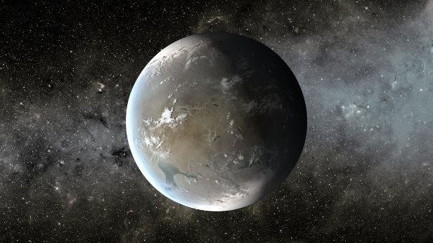 … e do vi­zi­nho Kepler-62f