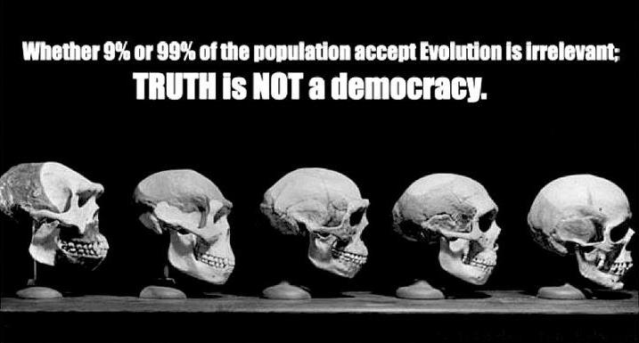 É irrelevante se 9% ou 99% das pessoas acreditam. A verdade não é uma democracia.