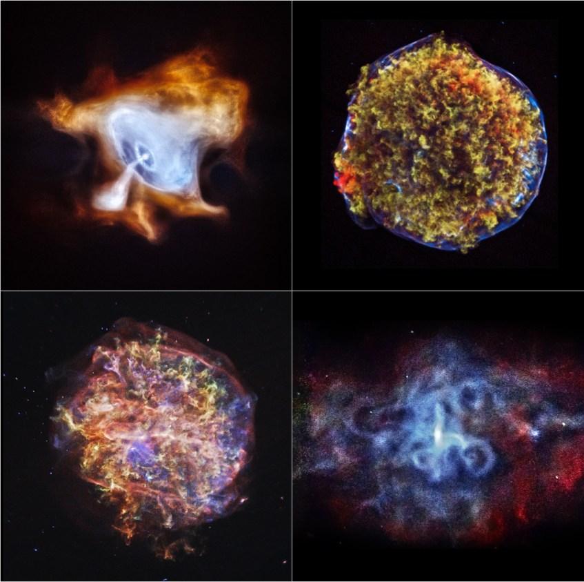 Para celebrar o 15º aniversário do Observatório de Raios-X Chandra, a NASA divulgou estas 4 imagens de remanescentes de supernovas.