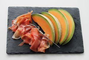 Meloen met hesp als slechte voedselcombinatie