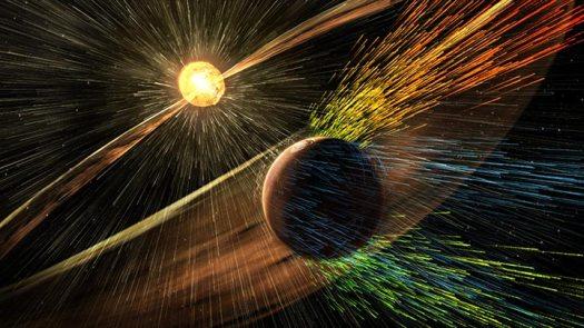 güneş rüzgarları Mars atmosferini törpülüyor