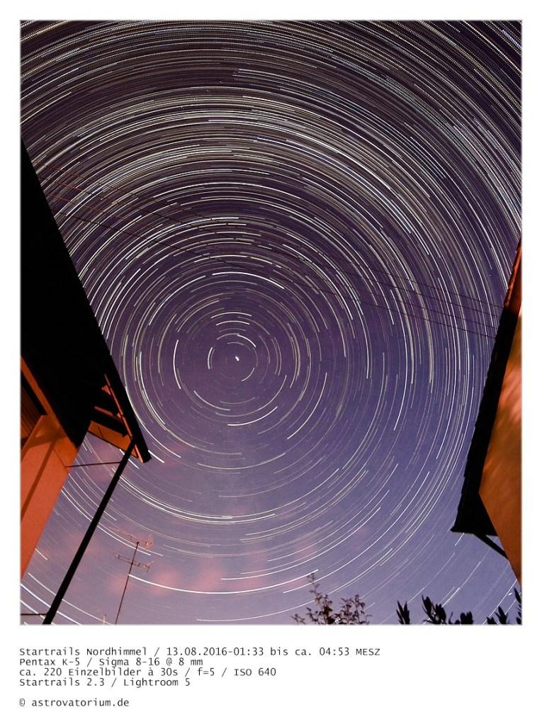 Startrails aus 220 Bildern