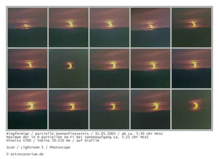 Verlauf der partiellen Sonnenfinsternis