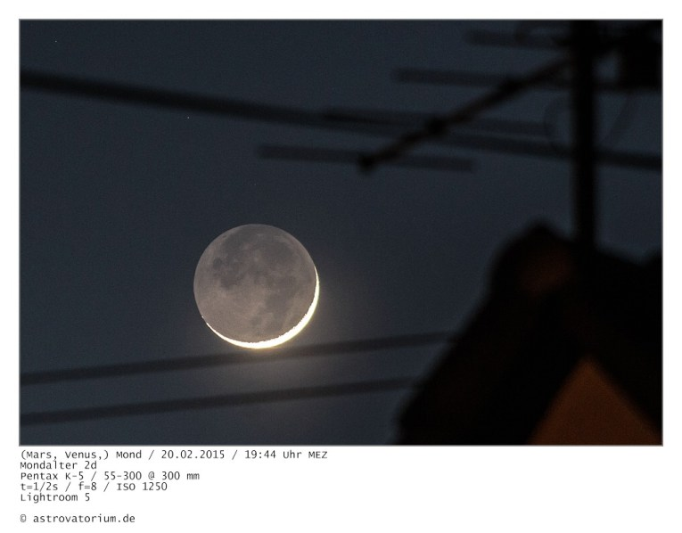 Mond, (Venus, Mars)