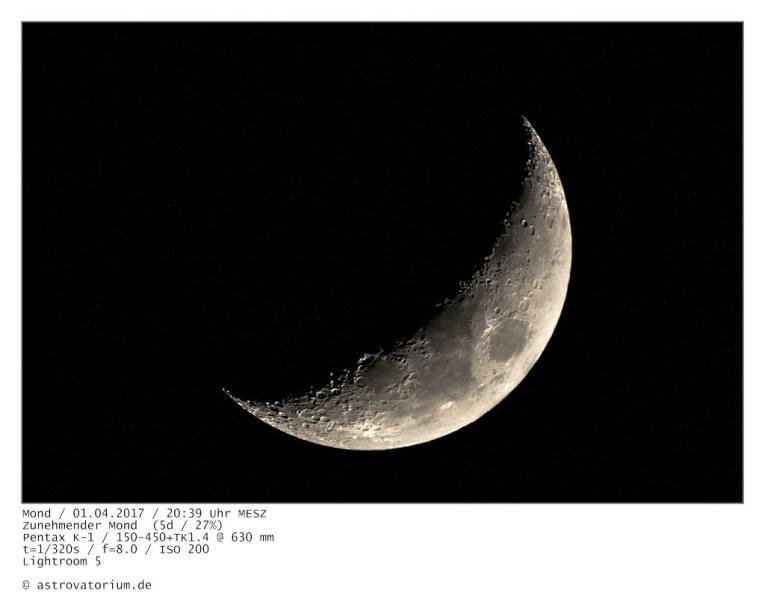 Zunehmender Mond 5Tage alt