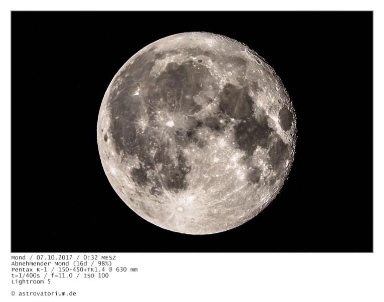 Abnehmender Mond (16d/98%)