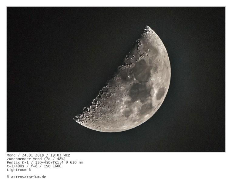 Zunehmender Mond (7d/48%)