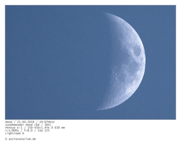 Zunehmender Mond (6d/36%)