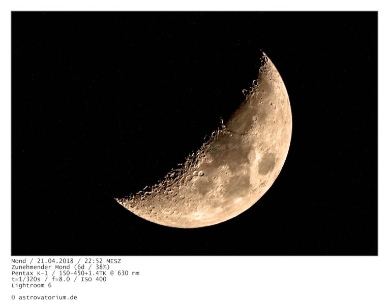 Zunehmender Mond (6d/38%)