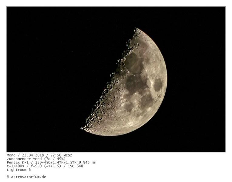 Zunehmender Mond (7d/49%)