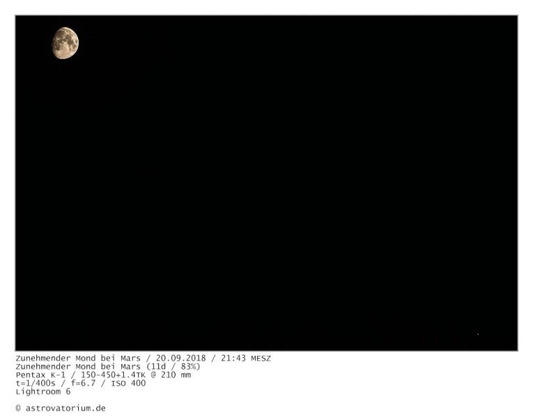 180920 Zunehmender Mond bei Mars 11d_83vH