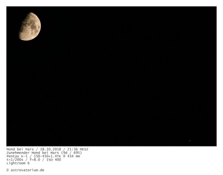 181018 Zunehmender Mond bei Mars 9d_69vH