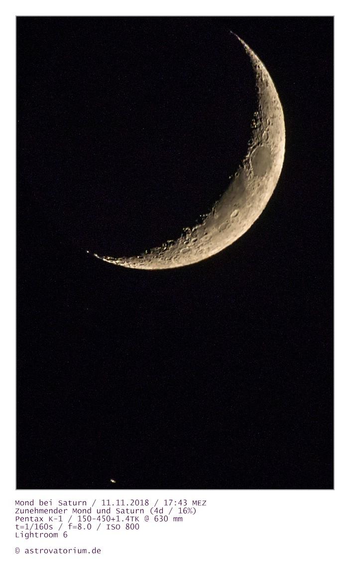 181111 Zunehmender Mond und Saturn_1 4d_16vH