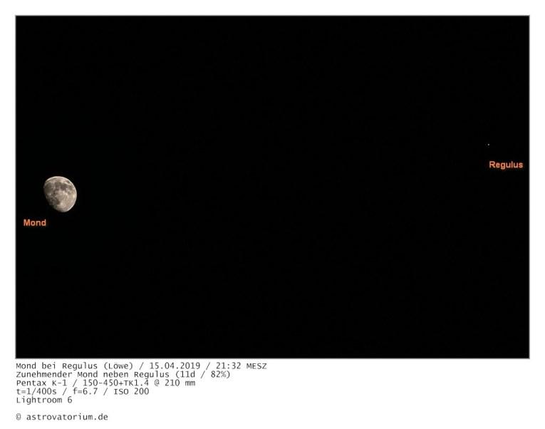 190415 Zunehmender Mond bei Regulus 11d_82vH_beschriftet