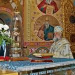 Успение Пресвятой Богородицы, Литургия архиерейским служением
