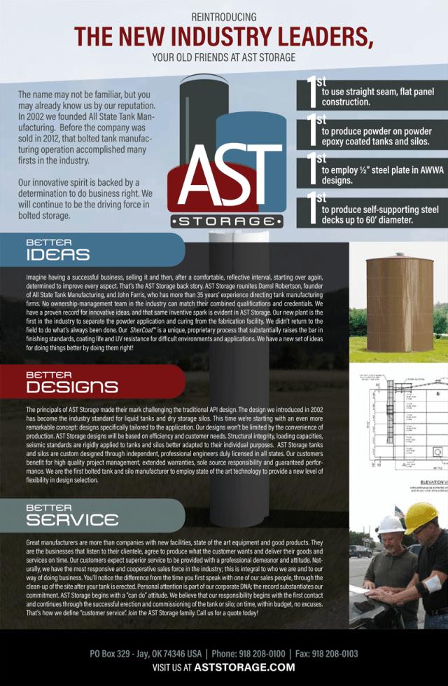 Storage Tank Information | AST Storage Brochure | Jay, OK