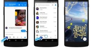 Facebook Messenger et Snapchat