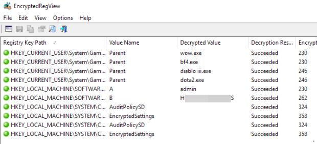 regview cryptés