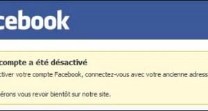 Désactiver mon compte Facebook