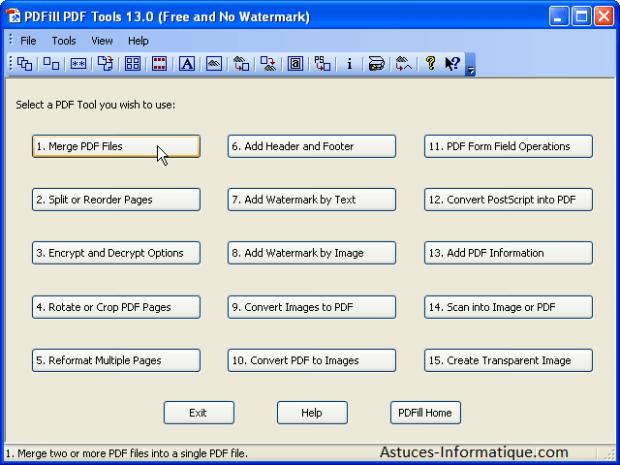 l'éditeur PDFill ,modifier un fichier PDF