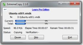 extremeCopyStandard - outils copiage fichier