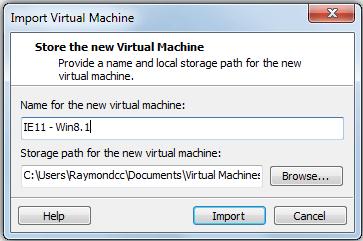 Importer vmware