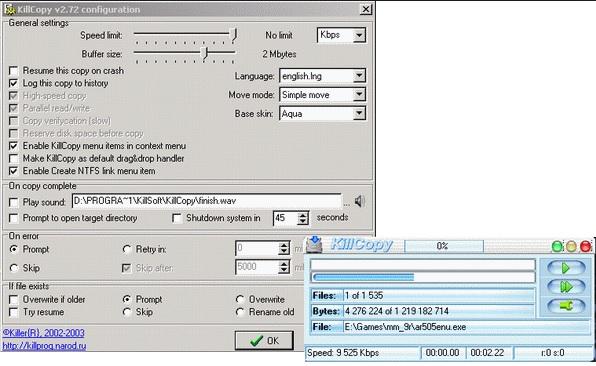 killcopy - outils copiage fichier