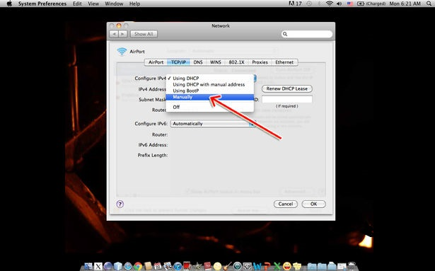 Changer adresse IP Mac OSX