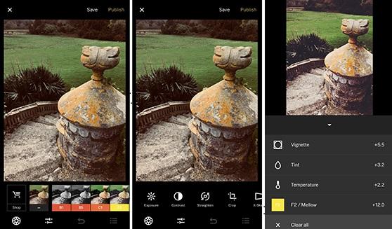 Meilleures applications d'édition de photos vsco