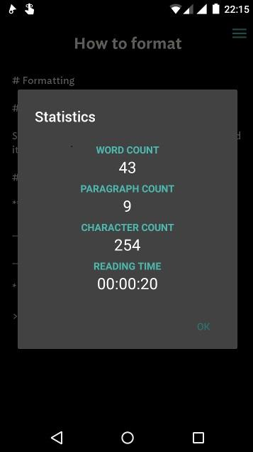 Android écriture - Jotterpad