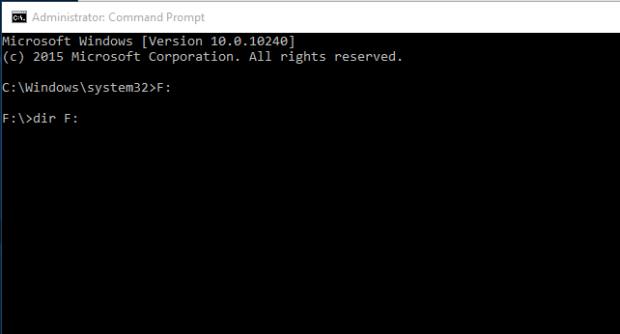 Supprimer les virus en utilisant l'invite de commandes