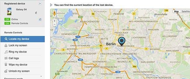 Trouver votre téléphone à l'aide de Samsung