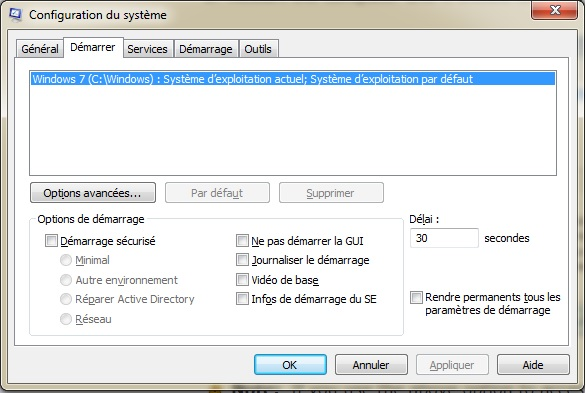 Configuration système Windows 7