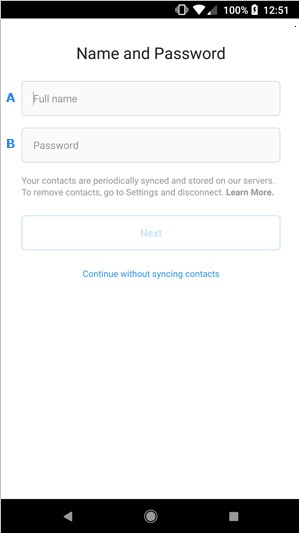 Instagram Android et IOS login