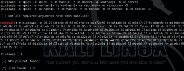 Kali Linux - pixieWPS