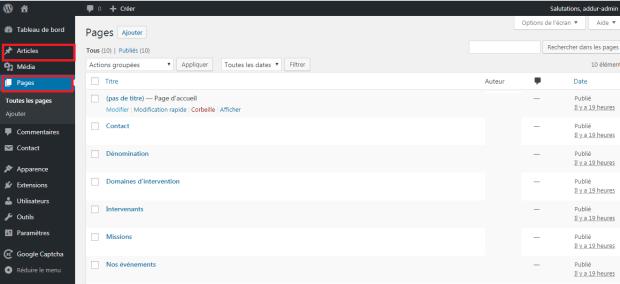 WordPress - Afficher liste des articles