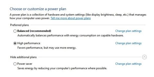 Windows 10 - changer plan d'alimentation