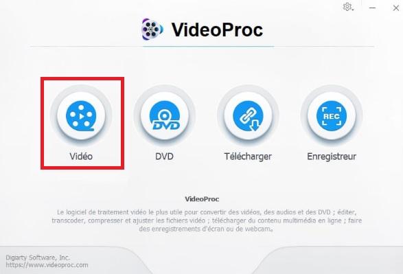 VideoProc - Fusionner vidéos