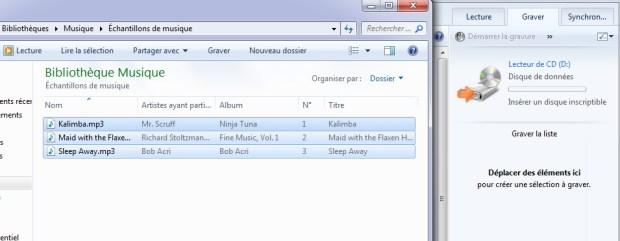 Windows 10 - ajouter fichier pour gravure CD