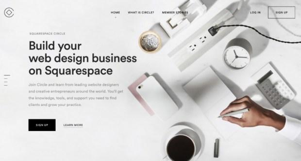 squarespace - logiciel de création de site web
