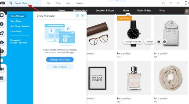 WIX - logiciel de création de site web